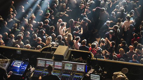 The crowd at a prog gig