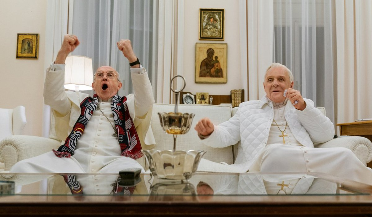 Jonathan Pryce and Anthony Hopkins The Two Popes