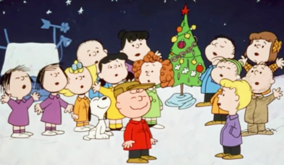 A Charlie Brown Christmas Charlie Brown and the gang sing around his tree