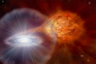 Exploding star sending dust to earth