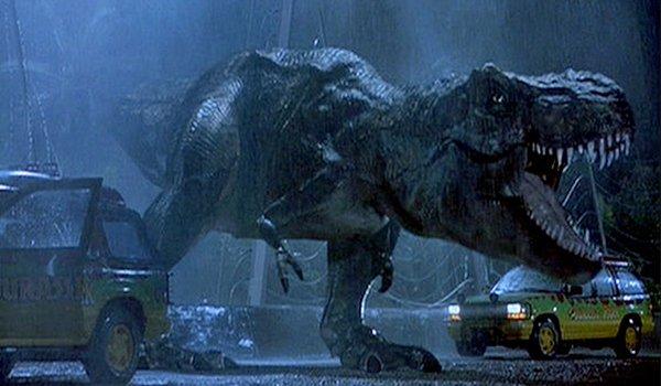 The T Rex makes his presence felt in Jurassic Park