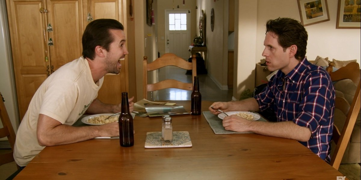 Mac and Dennis in It's Always Sunny in Philadelphia Mac and Dennis Move to the Suburbs