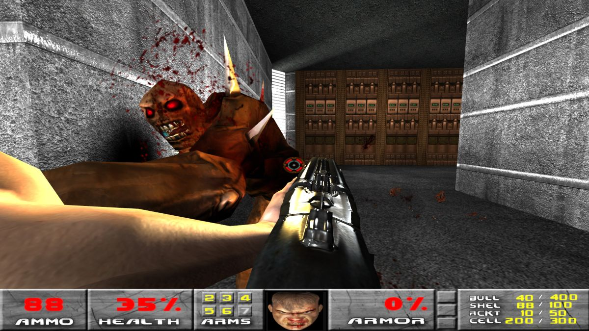 Check out 46 minutes of the original Doom running in the id Tech 4 engine