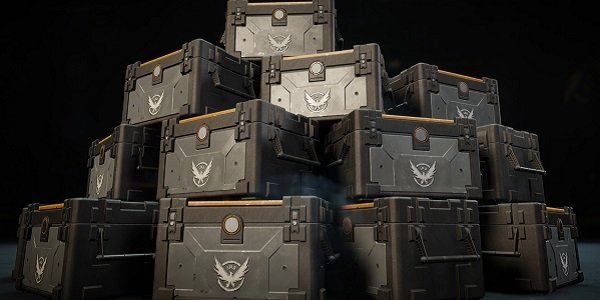 A mountain of loot boxes in The Division.