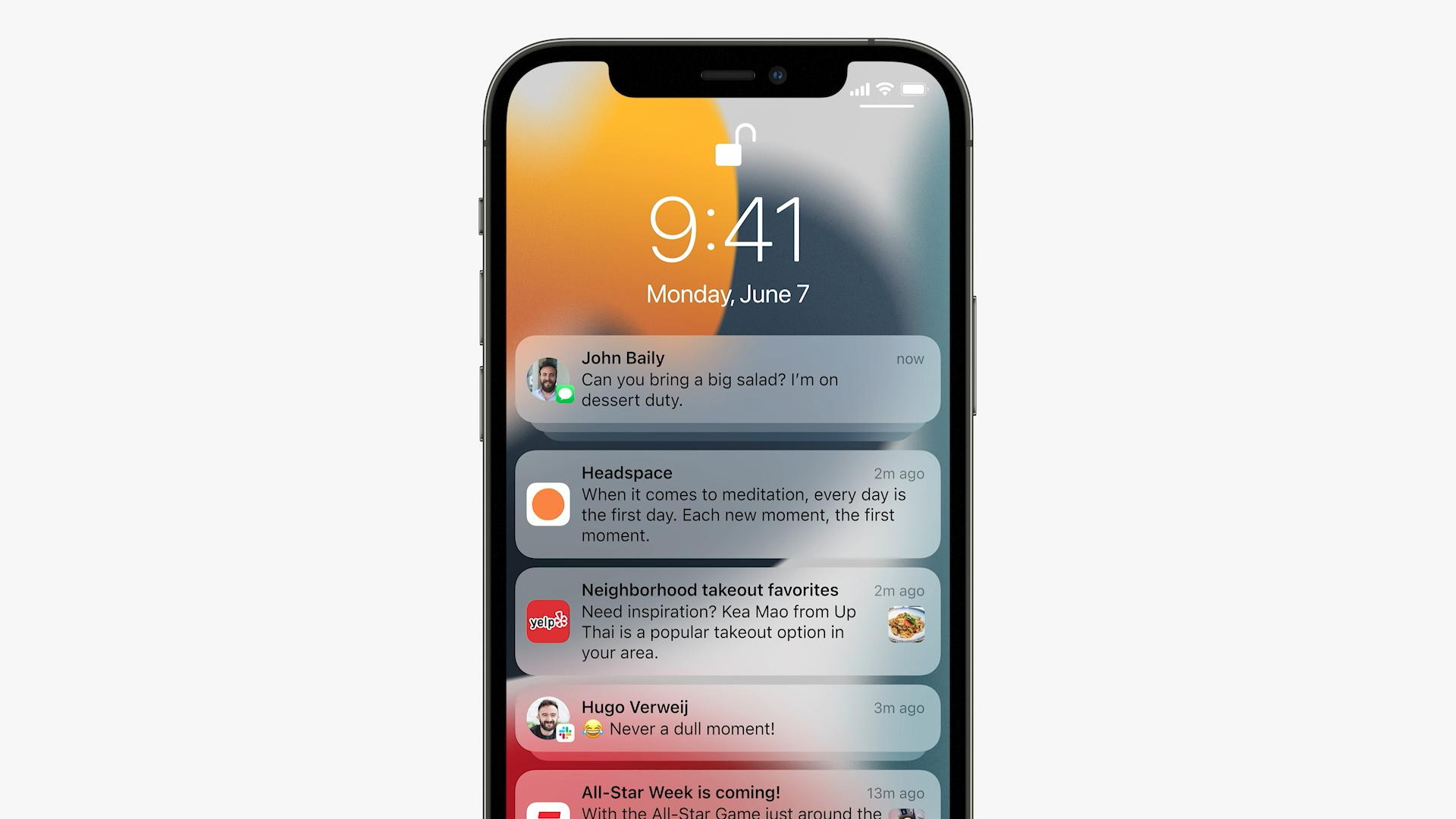 Notification improvements in iOS 15