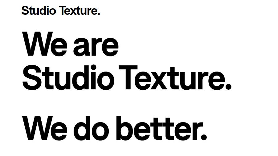 Quit your job: Studio Texture