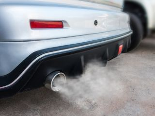 tailpipe exhaust from sports car