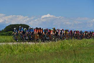 Women's peloton racing at the 2021 Giro d'Italia Donne
