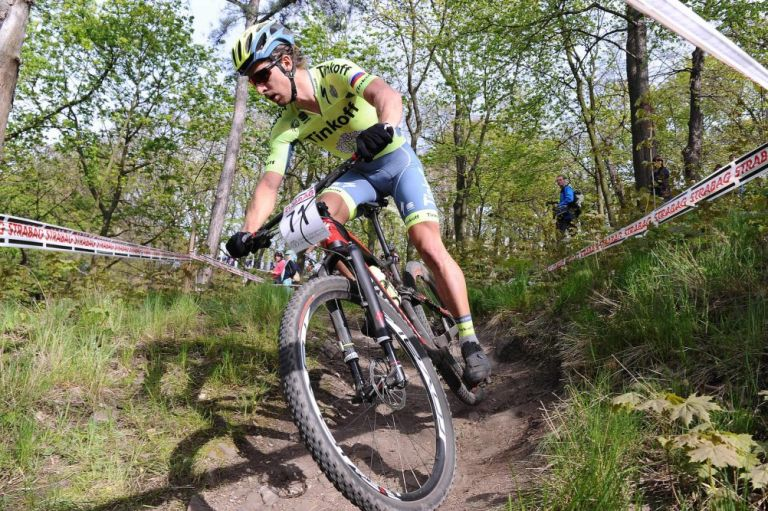 Peter Sagan training for the mountain biking. Credit: Tinkoff