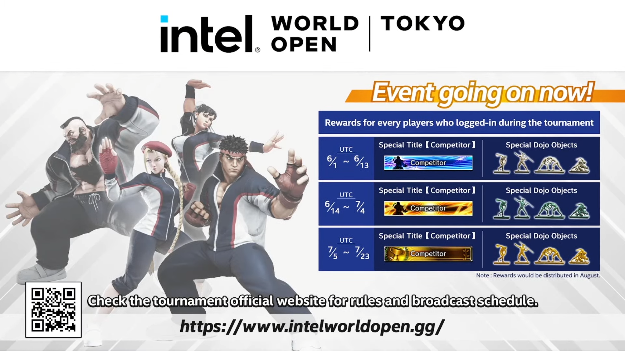 Intel World Open Tokyo Street Fighter in-game items