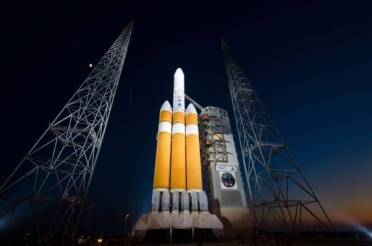 A huge Delta IV Heavy rocket will launch a new US spy satellite overnight. Here's how to watch.
