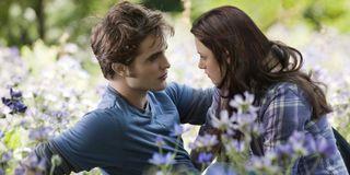 Robert Pattinson and Kristen Stewart in Twilight Saga: Eclipse