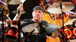 Neil Peart playing live