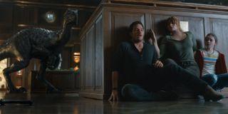 Chris Pratt and Bryce Dalla Howard in Jurassic World: Fallen Kingdom