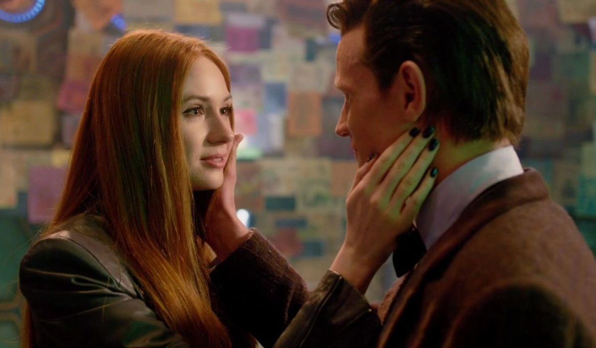 Doctor Who Amy greets Eleven before his regeneration