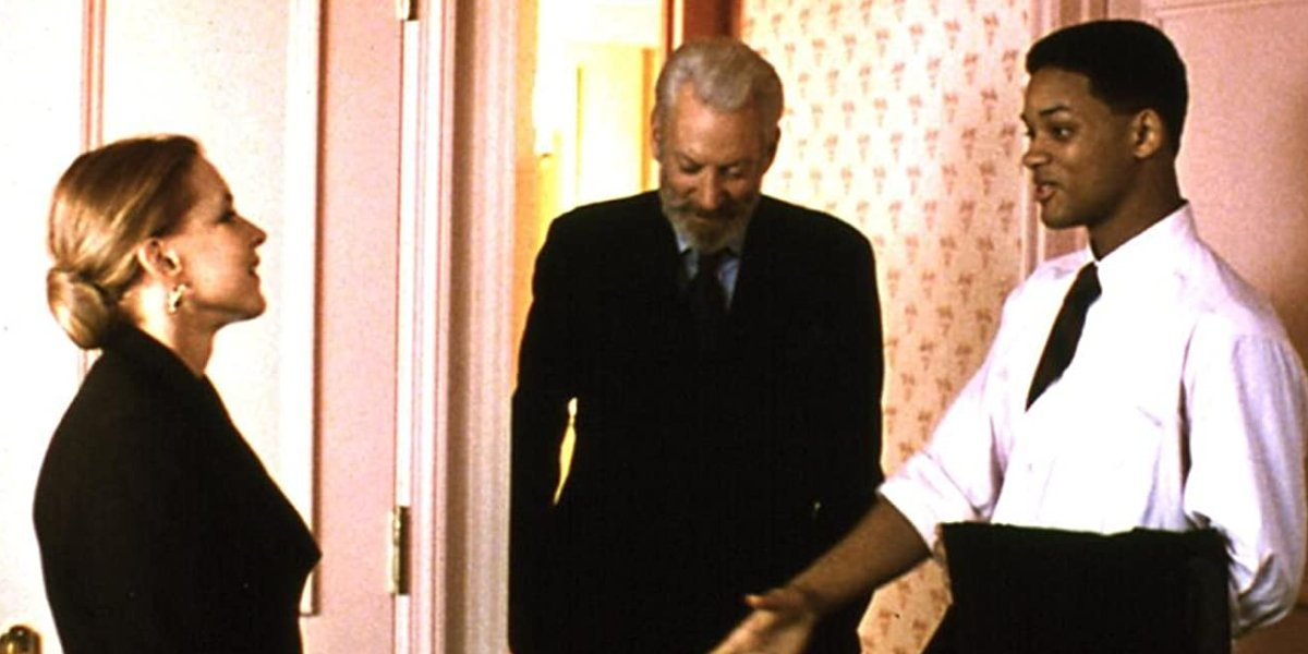 Stockard Channing, Donald Sutherland, and Will Smith in Six Degrees of Separation