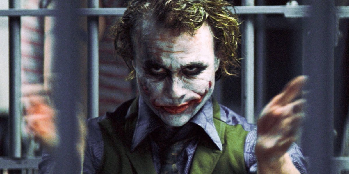 The Dark Knight Heath Ledger clapping as the Joker
