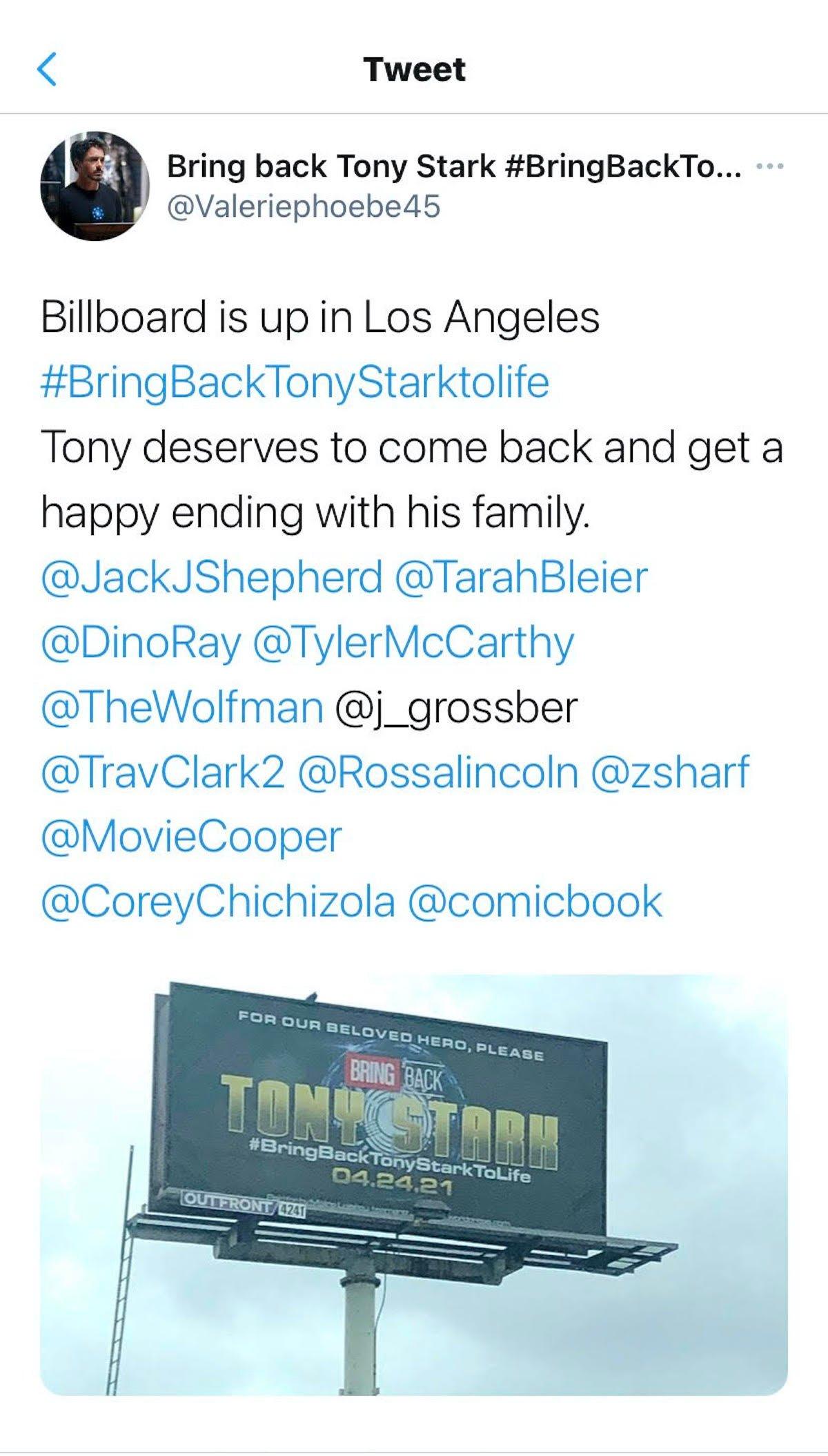 The Tony Stark billboard