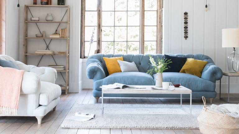 Add colour pops to a modern living room