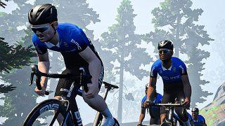 Pro riders on Zwift