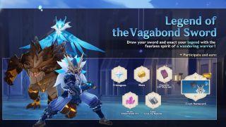 Genshin Impact Legend of the Vagabond Sword event
