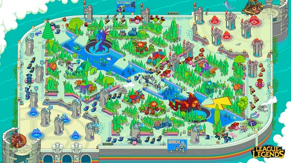 There Are Secrets Hidden In This Pixelated League Of Legends Map ...