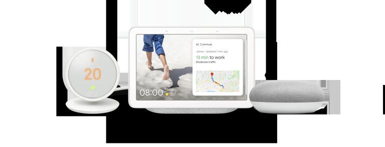 Google Home Mini Nest Thermostat E Nest Home Hub