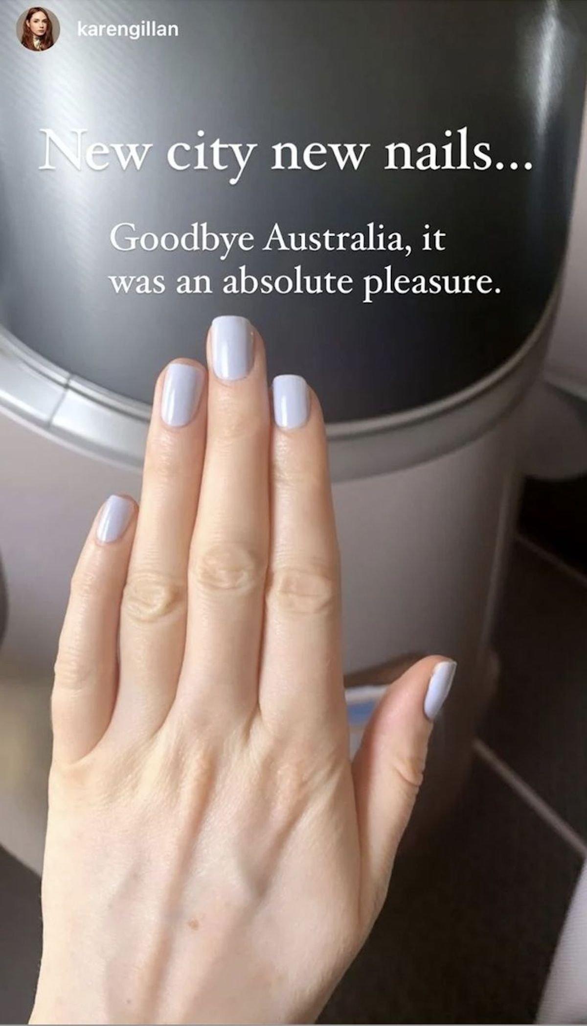 Karen Gillan's Manicure