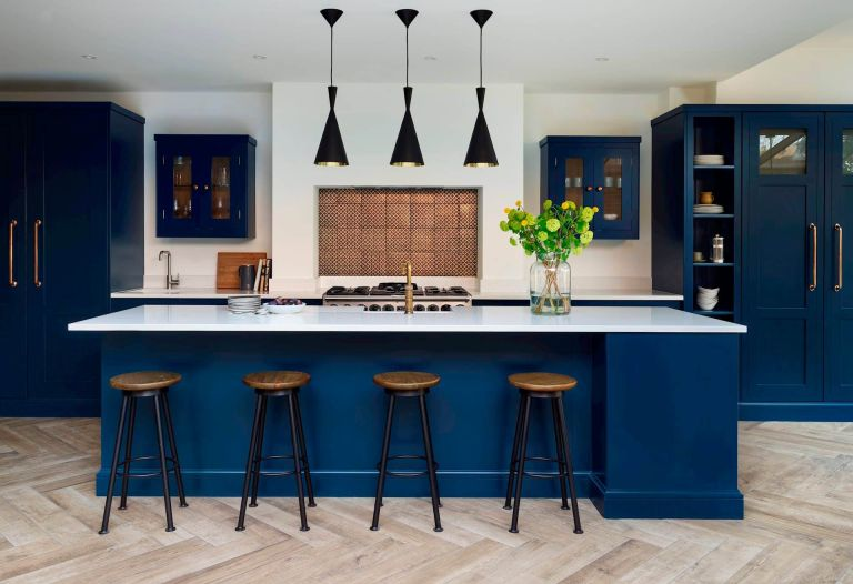 Harvey Jones blue kitchen