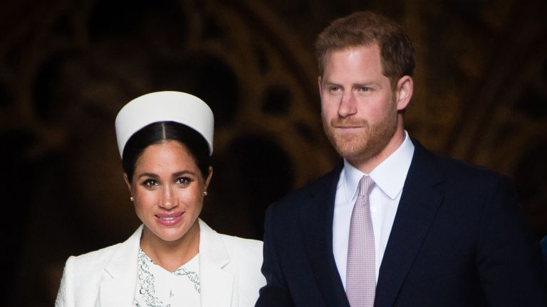 Prince Harry, Duke of Sussex and Meghan, Duchess of Sussex attend the Commonwealth Day service at Westminster Abbe6 on March 11, 2019 in London, England