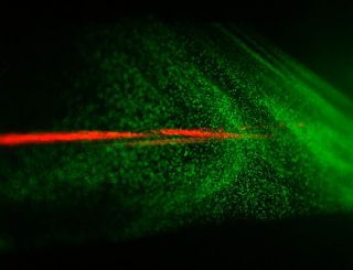 laser beams can generate cloud particles