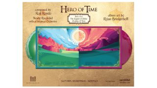 Hero of Time 2xLP (Music from The Legend of Zelda: Ocarina of Time). Image Credit: iam8bit.