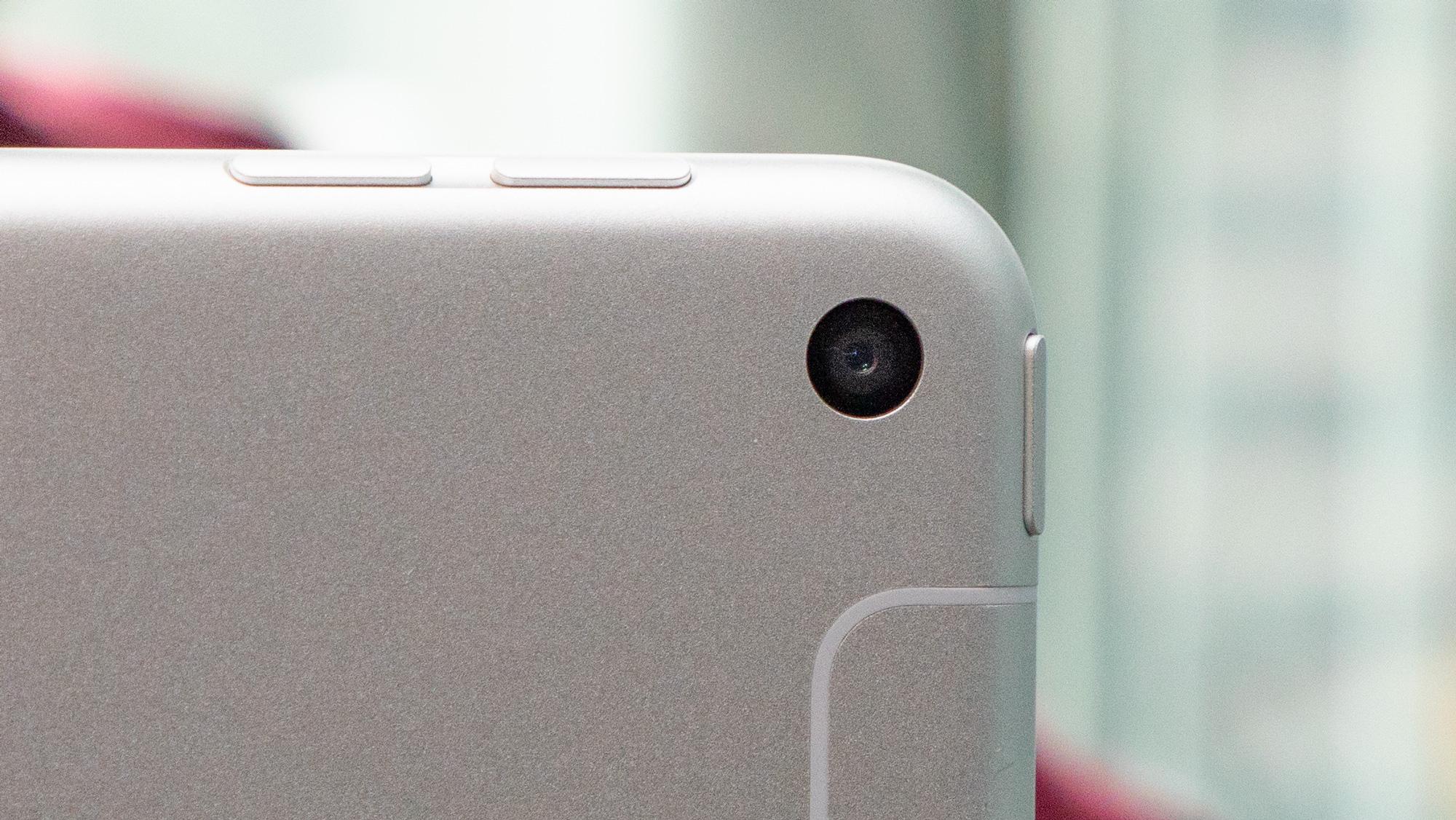 A close-up of the iPad mini (2019)'s camera