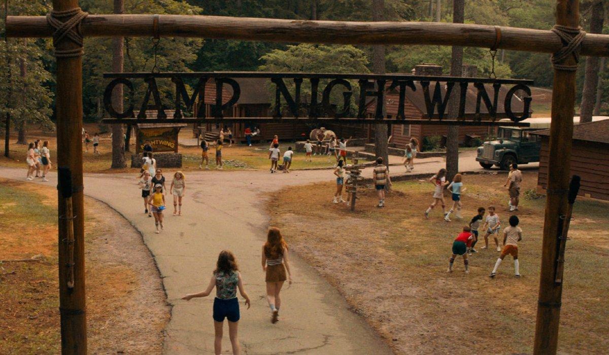 Camp Nightwing entrance in Fear Street: Part II.