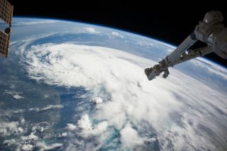 Tropical Storm Arthur Seen From Space