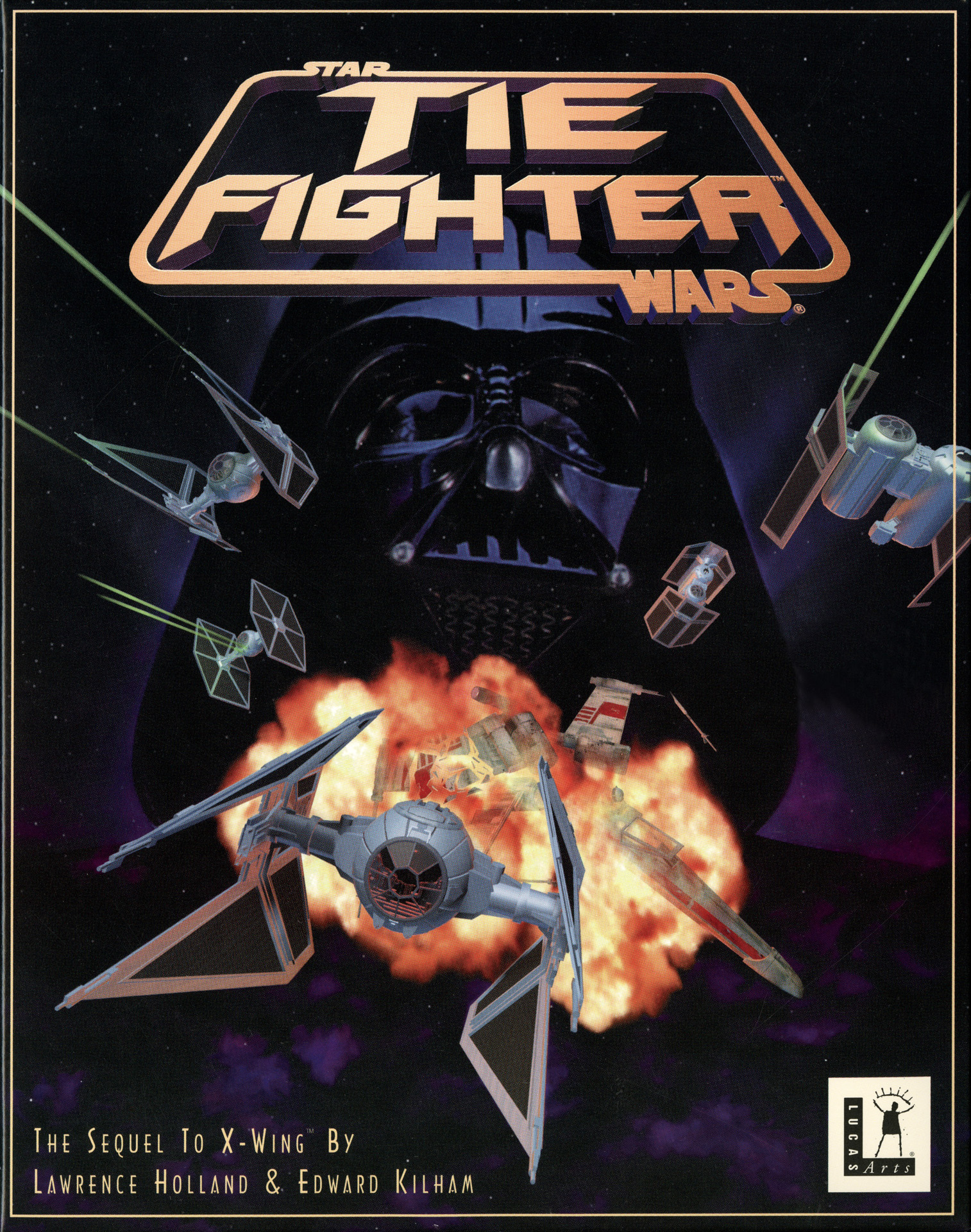 The cover of TIE Fighter