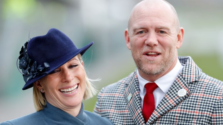 Mike Tindall reveals, Zara Tindall and Mike Tindall attend day 3 'St Patrick's Thursday' of the Cheltenham Festival 2020 at Cheltenham Racecourse on March 12, 2020 in Cheltenham, England.