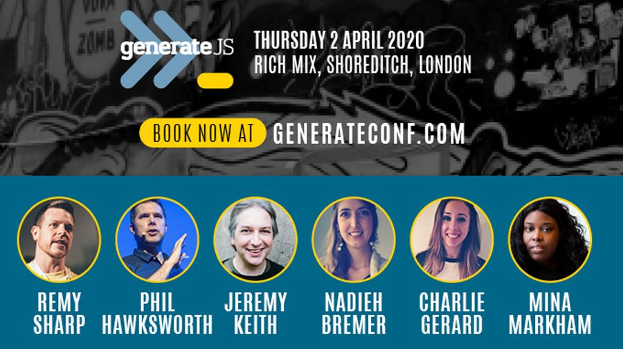 Build better JavaScript with 50% off tickets to GenerateJS - RapidAPI
