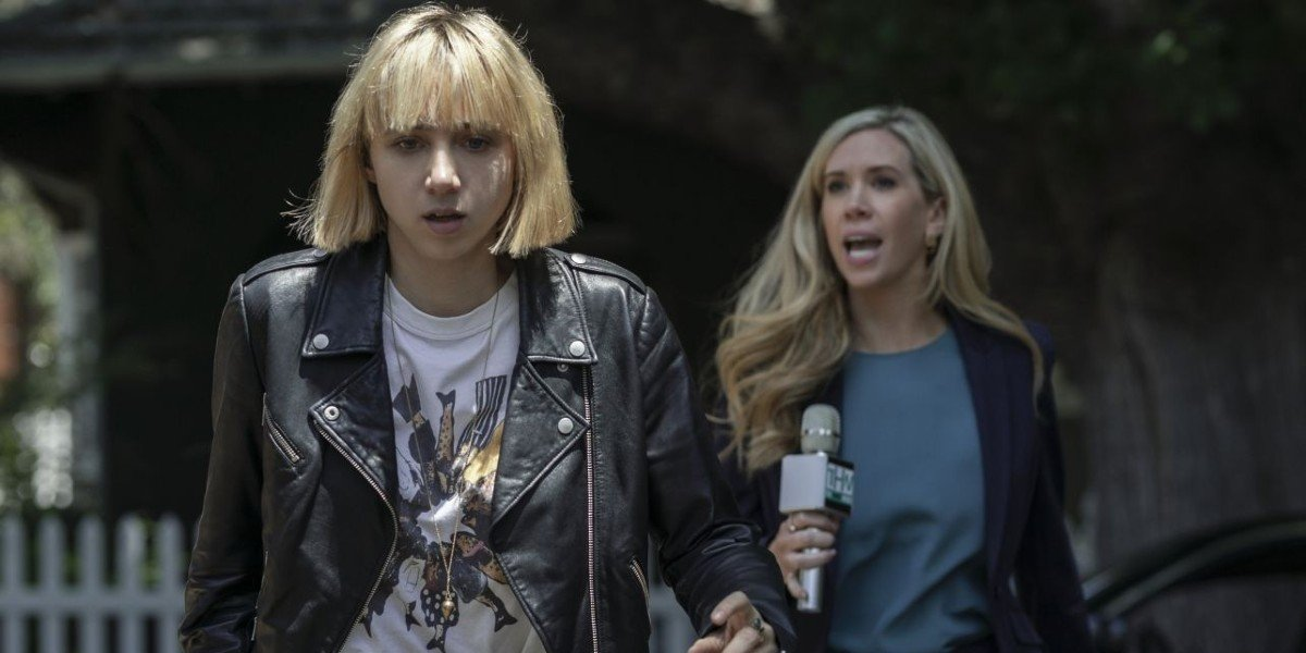 Zoe Kazan and Kate Lister in Clickbait season 1