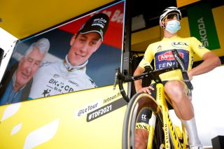 Mathieu Van Der Poel of Alpecin-Fenix will wear the yellow jersey for a fourth day on stage 5 time trial