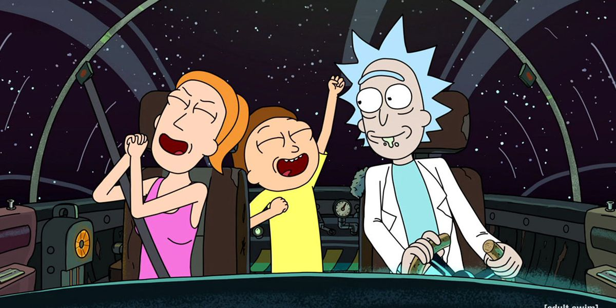 Rick, Morty and Summer in Rick and Morty.