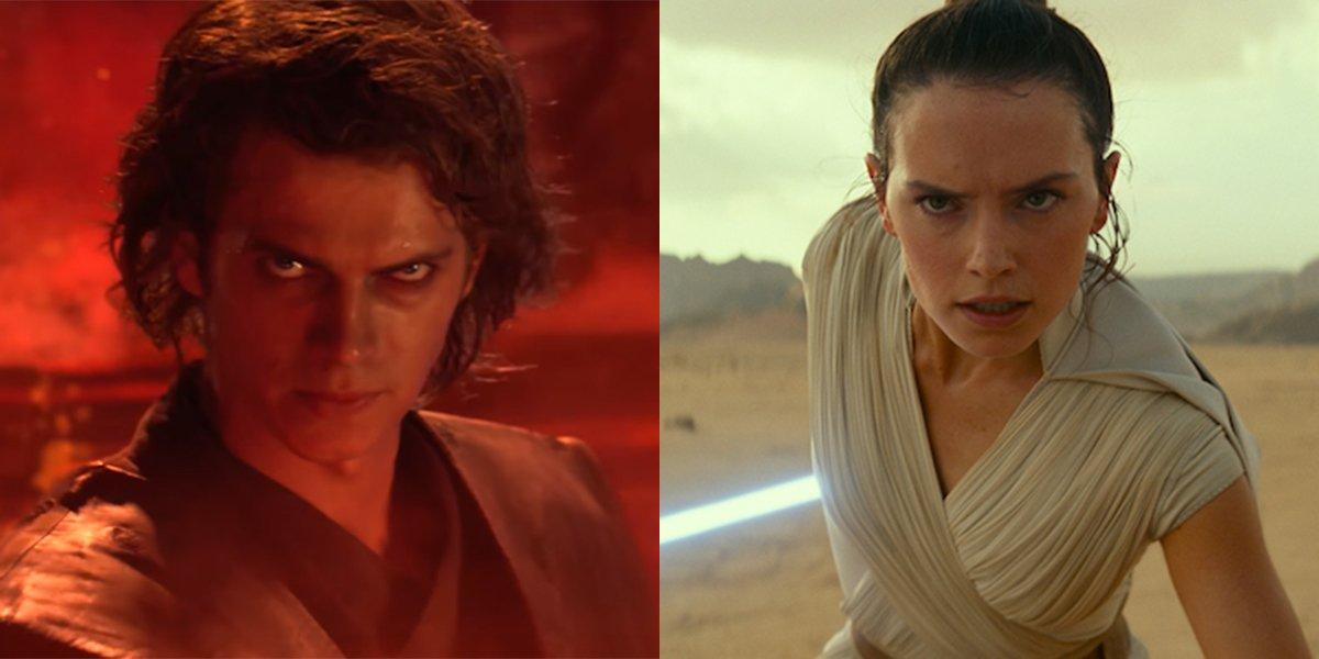 Anakin Skywalker and Rey