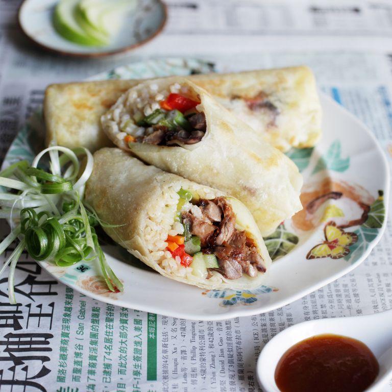 Photo of Hoisin Duck Rice Roll