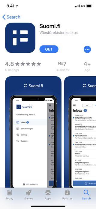 Suomi.fi App Storessa