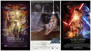 Star Wars I, IV, VII Posters