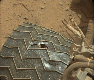 Wheel Damage on Mars Rover