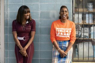 Yvonne Orji and Issa Rae in Insecure