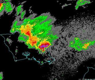 Radar image of the severe weather hitting Hawaii.