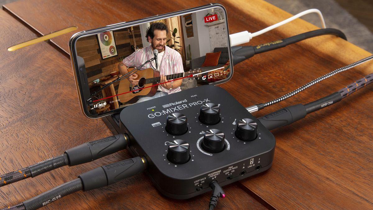 Roland's GO:MIXER PRO-X looks like its best smartphone audio mixer yet