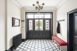bold hallway ideas in victorian home